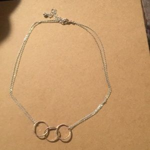 💋THREE RING NECKLACE